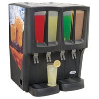 Crathco C-4D-16 G-Cool Quadruple 2.4 Gallon Bowl Premix Cold Beverage Dispenser with Iced Coffee Decal