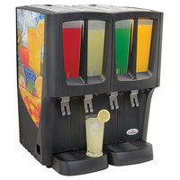 Crathco C-4D-16 G-Cool Quadruple 2.4 Gallon Bowl Premix Cold Beverage Dispenser with Fruit Decal