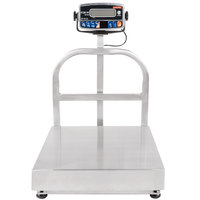 Tor Rey EQB-50/100-W 100 lb. Waterproof Digital Receiving Bench Scale with Tower Display, Legal for Trade