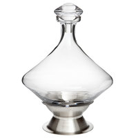 Franmara 9111 Orbital 60 oz. Crystal Decanter with Crystal Stopper and Brushed Stainless Steel Base