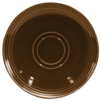 Homer Laughlin 131441439 Sepia™ 6 1/2 inch Flipside China Saucer - 36/Case