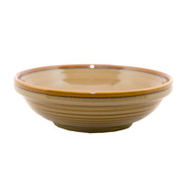 Homer Laughlin 131641439 Sepia™ 17 oz. Flipside China Grapefruit Bowl   - 24/Case