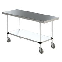 Stainless Steel Work Tables with Undershelf