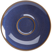 Homer Laughlin 22159026 Indigo™ 6 1/2 inch China Nadia Saucer - 36/Case