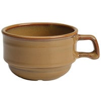 Homer Laughlin 130441439 Sepia™ 10.5 oz. Flipside Stacking China Cup - 36/Case