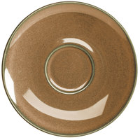 Homer Laughlin 221541439 Sepia™ 6 1/2 inch China Nadia Saucer - 36/Case