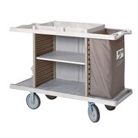 Metro LXHK3-ESS-P Lodgix Essentials Housekeeping Cart with Never Flat Casters