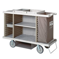 Metro LXHK3-PLUS-P Lodgix Plus Housekeeping Cart with Never Flat Casters
