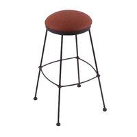 Holland Bar Stool 303030BWReiAdo Black Wrinkle Steel Bar Height Stool with Rein Adobe Vinyl Seat