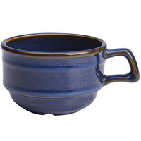Homer Laughlin 13049026 Indigo™ 10.5 oz. Flipside Stacking China Cup - 36/Case
