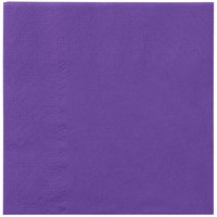 Hoffmaster 180339 Purple Beverage / Cocktail Napkin - 1000/Case