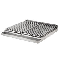 Avantco 24 inch x 27 inch x 4 inch Add-On 4 Burner Charbroiler