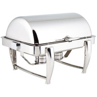 Choice Extra-Heavyweight 8 Qt. Dripless Full Size Stackable Stainless Steel Roll Top Chafer