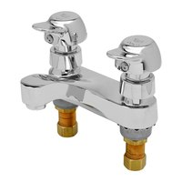 T&S B-0831-02VR-PA Deck Mounted Lavatory Faucet with 4 inch Centers, Pivot Action Metering Cartridges, and 0.5 GPM Spray Device