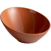 GET B-788-PK Diamond Harvest 16 oz. Pumpkin Slanted Melamine Catering Bowl
