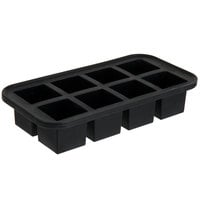 American Metalcraft SMC8 Black Silicone 8 Compartment 2 inch Cube Ice / Dessert Mold with Reinforced Metal Stabilizing Frame