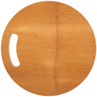 American Metalcraft BWBR 9 inch Carbonized Bamboo Round Serving Board