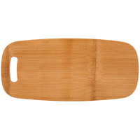 American Metalcraft BWBO 13 1/2 inch x 6 inch Carbonized Bamboo Serving Board