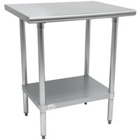 Advance Tabco TTS-182 18 inch x 24 inch 18 Gauge Stainless Steel Work Table with Undershelf