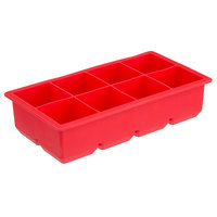 Red Silicone 8 Compartment 2 inch Cube Ice / Dessert Mold