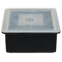 American Metalcraft SMC4 Black Silicone 4 Compartment 2 inch Cube Ice Mold with Lid