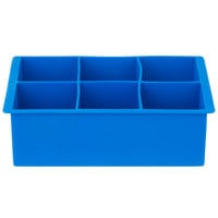 Franmara 8173 Blue Silicone 6 Compartment 2 inch Cube Ice Mold