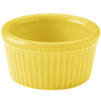 Hall China 38345320 Sunflower 4 oz. Colorations Fluted Ramekin - 36/Case