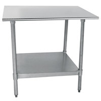 Advance Tabco TT-183 18 inch x 36 inch 18 Gauge Stainless Steel Work Table with Galvanized Undershelf