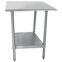 Advance Tabco TTS-180 18 inch x 30 inch 18 Gauge Stainless Steel Work Table with Undershelf