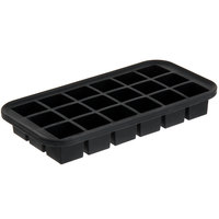 American Metalcraft SMC18 Black Silicone 18 Compartment 1 3/8 inch Cube Ice / Dessert Mold with Reinforced Metal Stabilizing Frame