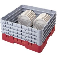 Cambro CRP2878163 Red Full Size PlateSafe Camrack 7-8 5/8 inch