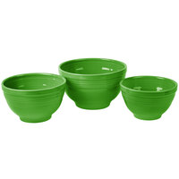 Homer Laughlin 967324 Fiesta Shamrock 3-Piece Prep Baking Bowl Set - 2/Case