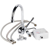 Equip by T&S 5EF-1D-WGAT-THG Wall Mounted Electronic Hands Free Faucet with 8 3/16 inch Gooseneck Spout, 2.2 GPM Aerator, Supply Lines, and Hydro-Generator