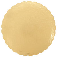 14 inch Gold Laminated Corrugated Cake Circle - 25/Pack