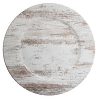 The Jay Companies 1270506 13 inch Round Birchwood Faux Wood Melamine Charger Plate