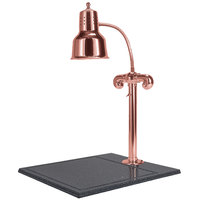 Hanson Heat Lamps SLM/BB/BC Single Lamp 18 inch x 20 inch Bright Copper Carving Station with Synthetic Granite Base