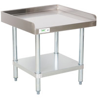 Regency 24 inch x 30 inch 16-Gauge Stainless Steel Equipment Stand with Galvanized Undershelf