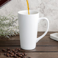 World Tableware TBM-11 10 oz. Ultra Bright White Porcelain Tall Bistro Mug - 12/Case