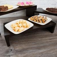 Tablecraft RBK300 Cascade Black Painted Wood 3-Piece Riser Set