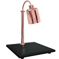 Hanson Heat Lamps SLM/BB/700ST/BCOP Single Lamp Streamline Style 20 inch x 24 inch Bright Copper Carving Station with Synthetic Granite Base