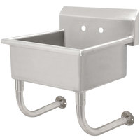 Advance Tabco FC-WM-2721 16-Gauge Multi-Station Hand Sink with 12 inch Deep Bowl - 27 inch x 21 1/2 inch