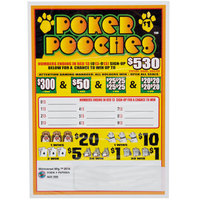 Poker Pooches 5 Window Pull Tab Tickets - 900 Tickets per Deal - Total Payout: $630