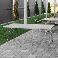 ... Regency 30 Inch X 72 Inch 18 Gauge Stainless Steel Open Base Folding  Work Table