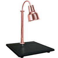 Hanson Heat Lamps SLM/BB/600ST/BCOP Single Lamp Streamline Style 18 inch x 20 inch Bright Copper Carving Station with Synthetic Granite Base