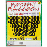 Rockin' Raccoon 5 Window Pull Tab Tickets - 3600 Tickets per Deal - Total Payout: $2887