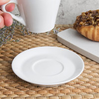 World Tableware SYW-5 4 3/4 inch Ultra Bright White Porcelain Espresso Saucer - 36/Case