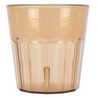 Cambro NT9153 Newport 9.3 oz. Amber Customizable Plastic Tumbler - 36/Case