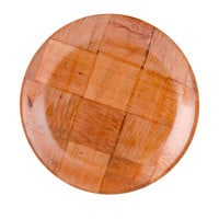 9 inch Woven Wood Plate - 12/Pack
