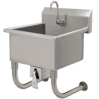 Advance Tabco FC-WM-2219KV 16-Gauge Multi-Station Hand Sink with 8 inch Deep Bowl and Knee Operated Faucet - 23 inch x 19 1/2 inch