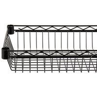 Regency 14 inch x 36 inch NSF Black Epoxy Shelf Basket